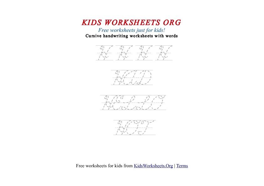 Worksheets H Cursive Writing kids letter h in cursive handwriting worksheet worksheets org worksheet