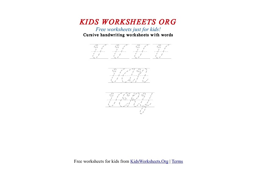 Kids Letter V in Cursive Handwriting Worksheet