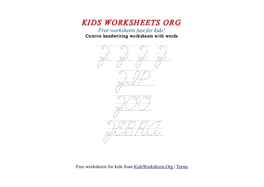Kids A to Z cursive handwriting and tracing worksheets for kids. These ...