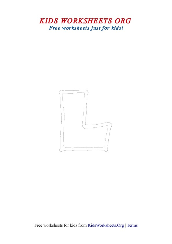 Printable Uppercase Letter L Coloring Worksheet
