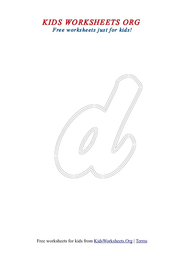Printable Letter D Worksheets for Kids