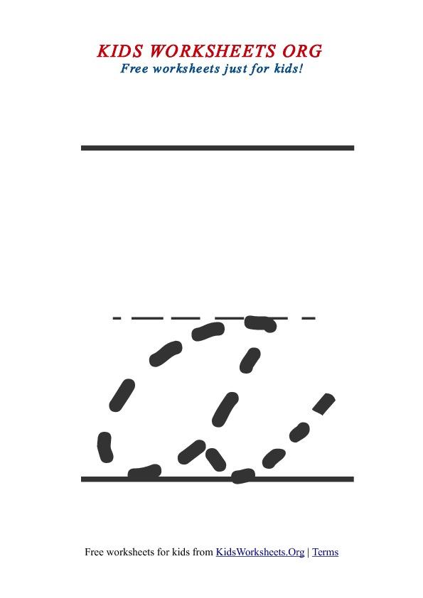printable lowercase letter a tracing worksheet - Worksheets For Kids Printable