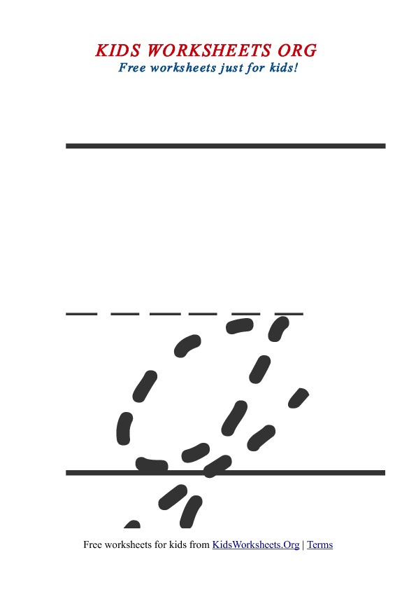 Printable Lowercase Letter G Tracing Worksheet