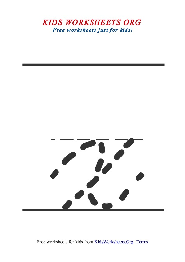 Printable Lowercase Letter X Tracing Worksheet
