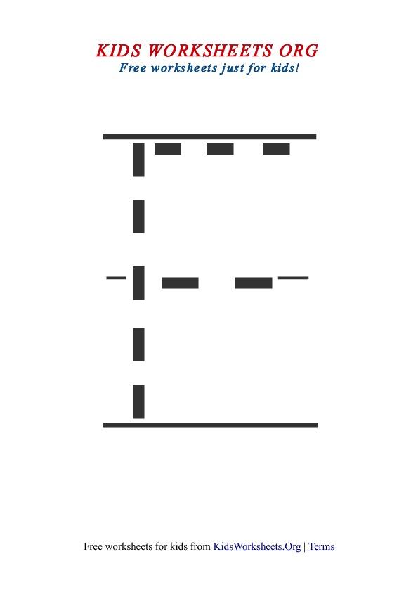 Kids Printable Worksheets Letter F – Letter F Worksheets